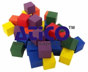 Color Cubes Wooden 1inch Set of 102