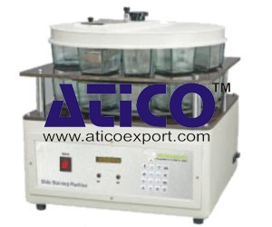 Microprocessor Controlled Slide Staining Machine
