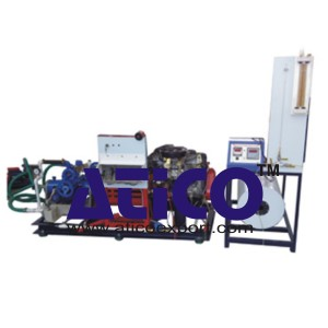 Four Cylinder Four Stroke Petrol Engine with Rope Break Dynamometer Test Rig
