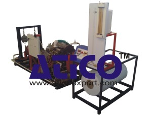 Single Cylinder Four Stroke Water Cooled Diesel Engine with Rope Break Dynamometer Test Rig
