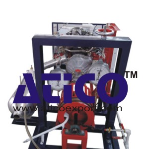 Single Cylinder Two Stroke Petrol Engine with Rope Break Dynamometer Test Rig