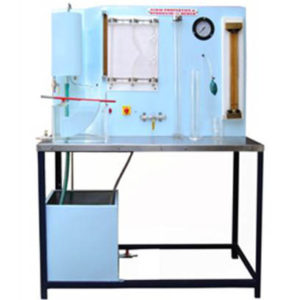 Equipment For Fluid Properties And Hydrostatics Bench